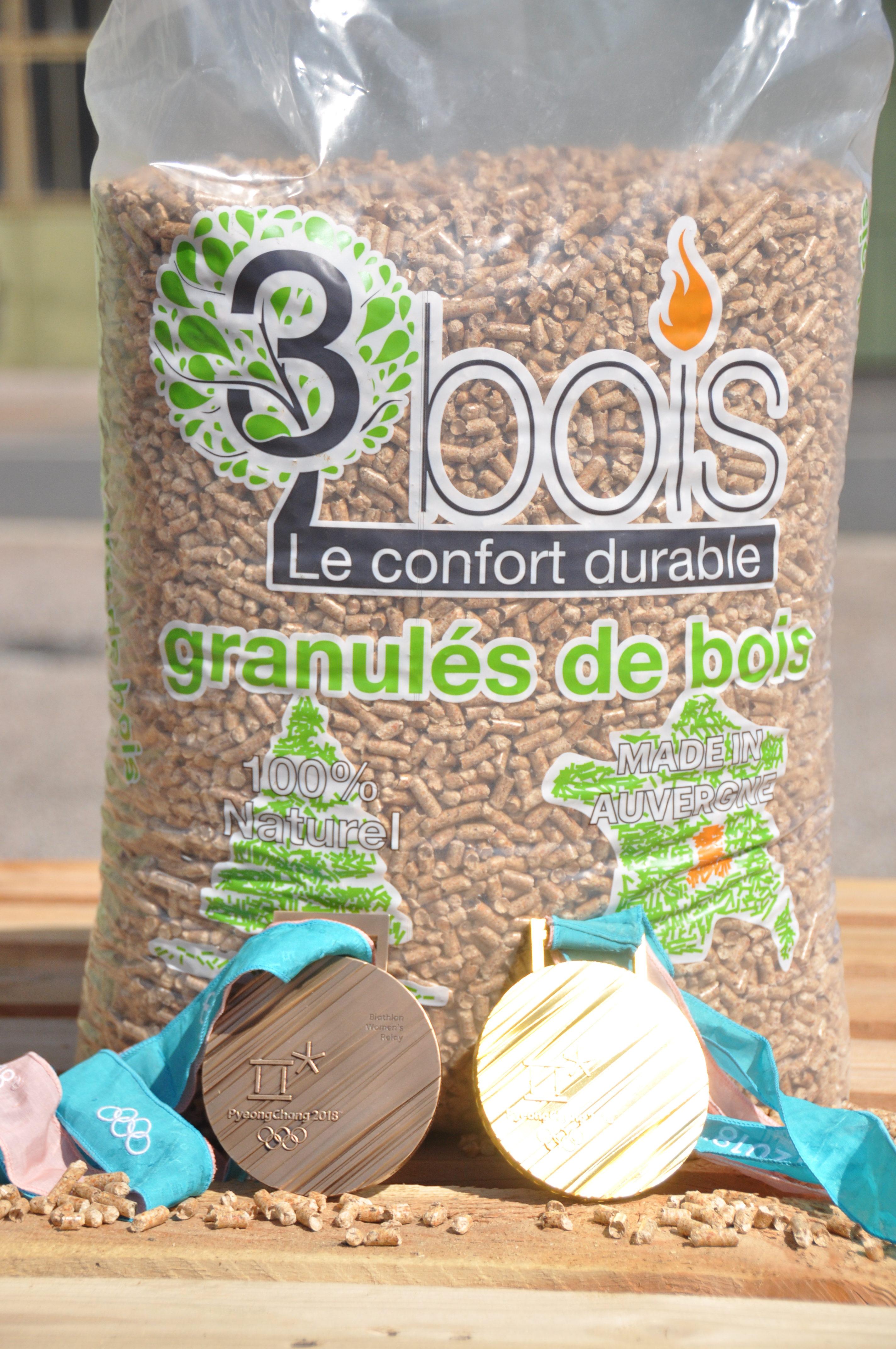Granulés De Bois 3bois Sac 15kg